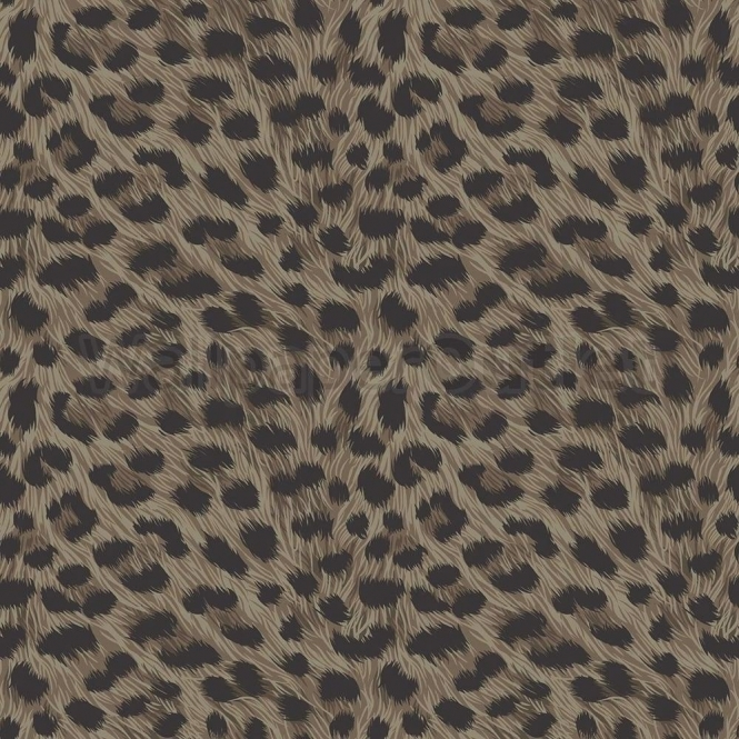 Fine Decor Furs Leopard Animal Print Wallpaper Natural Brown / Black (FD30684)