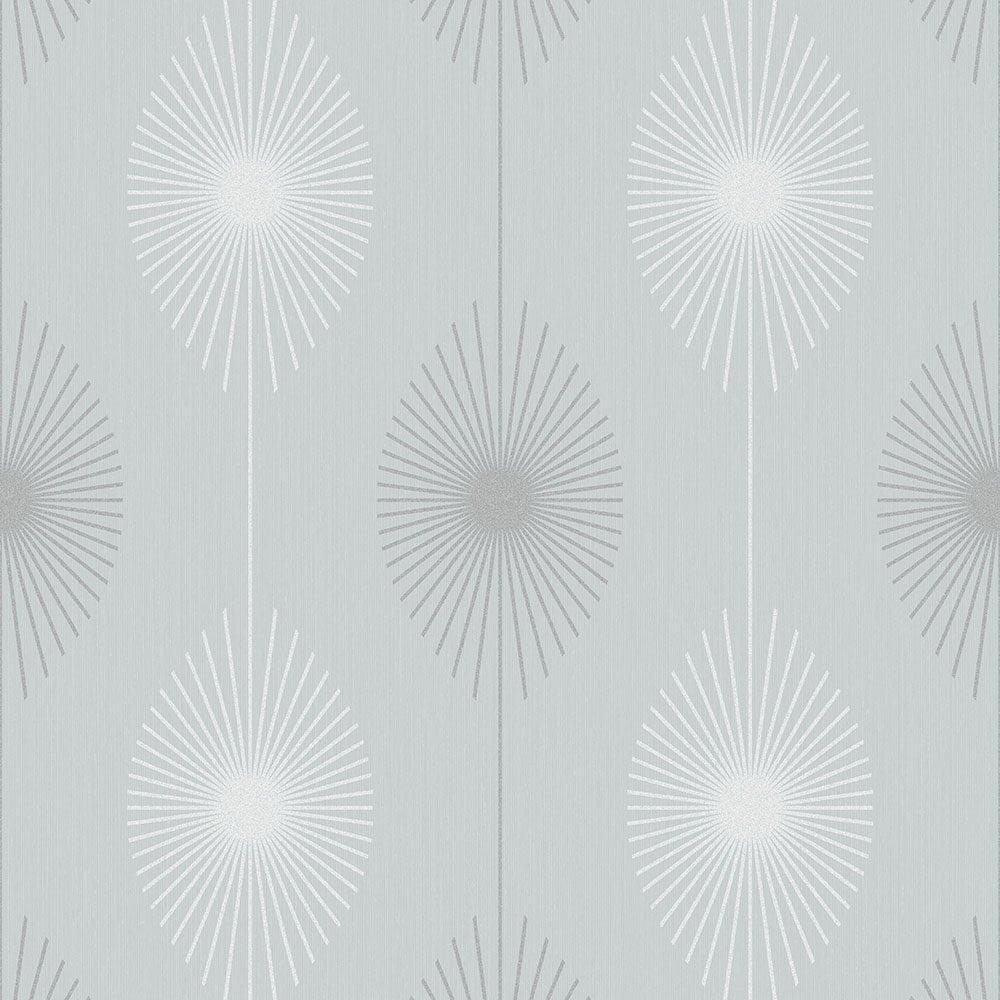 Fine decor geo starburst glitter wallpaper silver grey for White wallpaper uk