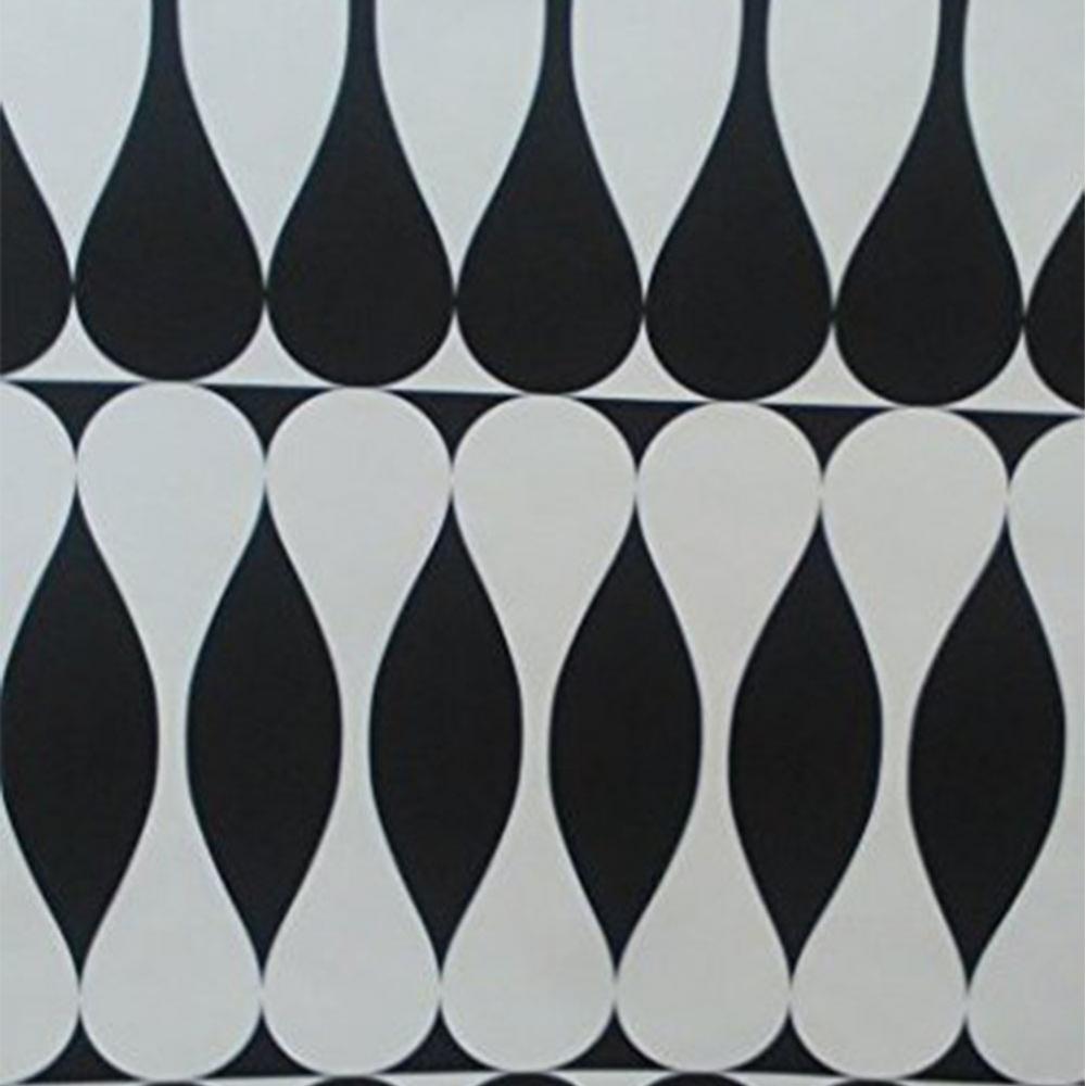 Caselio Geometric Retro Effect Wallpaper Black White 59059212
