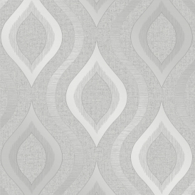 Glisten Wave Wallpaper Silver