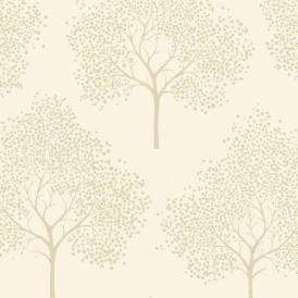 Glitter Tree Wallpaper Cream, Gold Glitter (ILW980030)