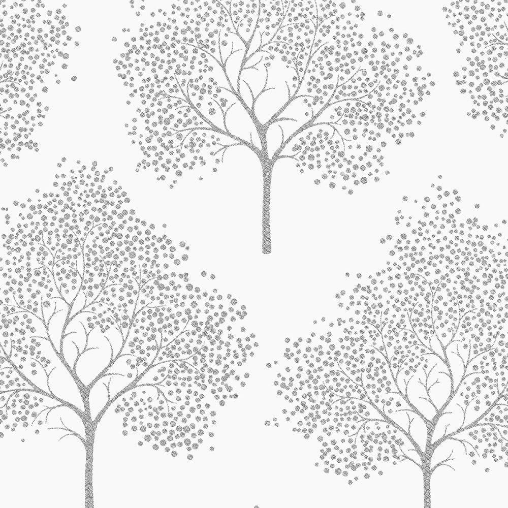 i love wallpaper glitter tree wallpaper white silver. Black Bedroom Furniture Sets. Home Design Ideas
