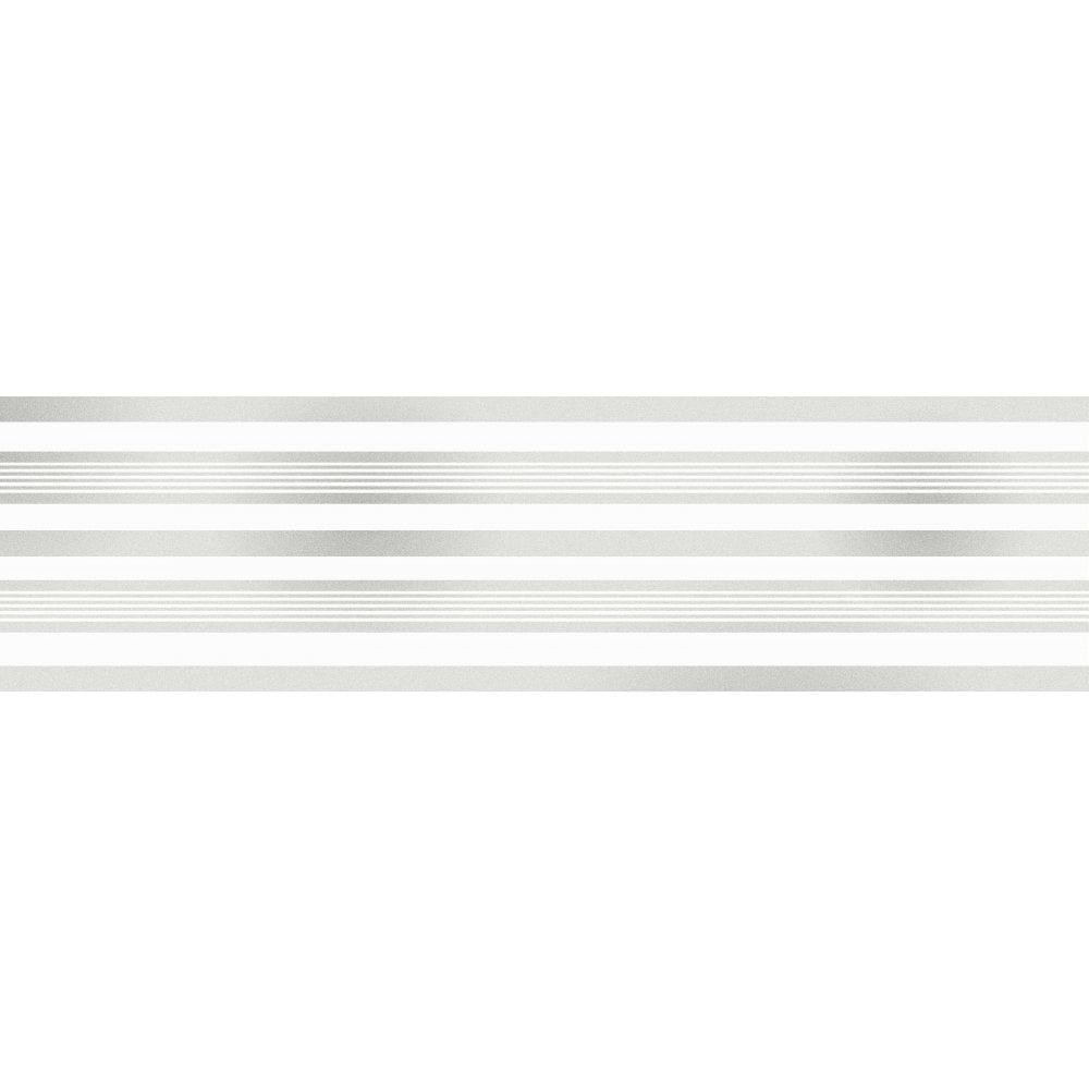 Fine Decor Glitz Stripe Glitter Wallpaper Border White