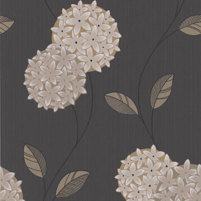 Graham Brown Graham And Brown Superfresco Pippa Wallpaper - Brown and cream wallpaper