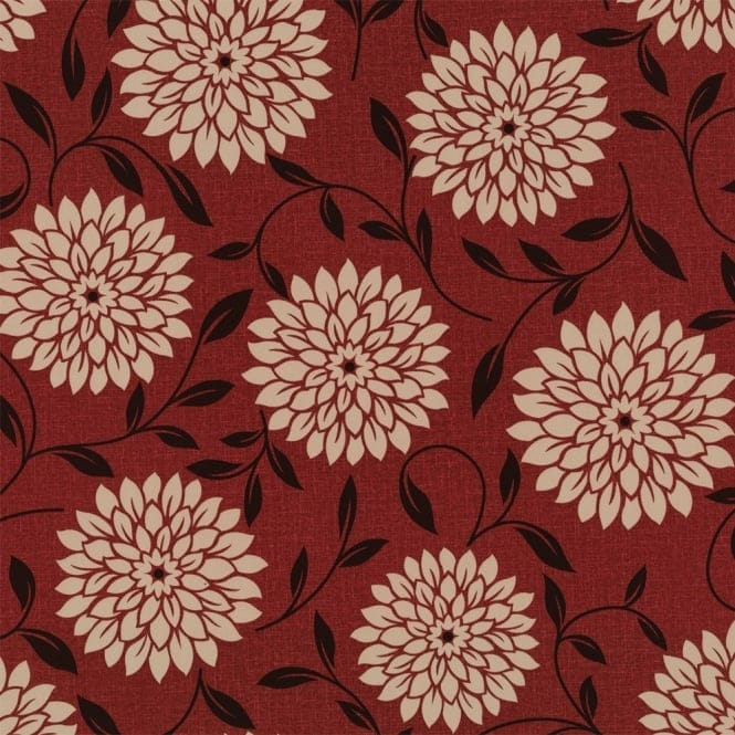 Buy graham and brown flora wallpaper crimson red beige for Purchase wallpaper