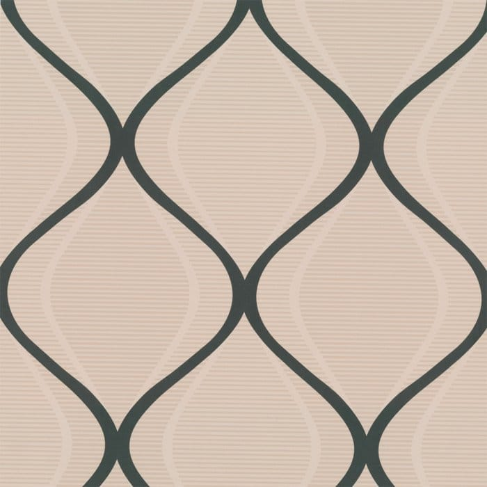 Buy Graham And Brown Icon Retro Wallpaper Charcoal Beige