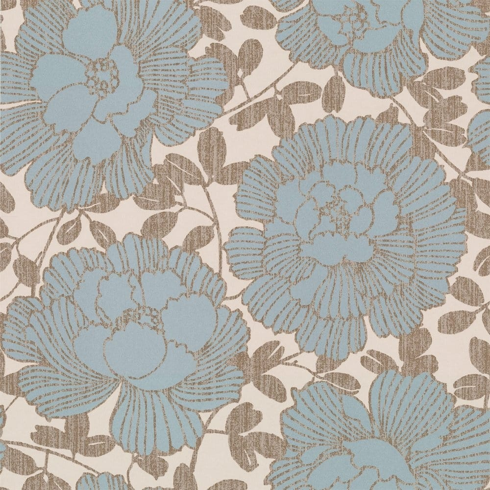 Manderley Wallpaper Blue Cream Gold 57207