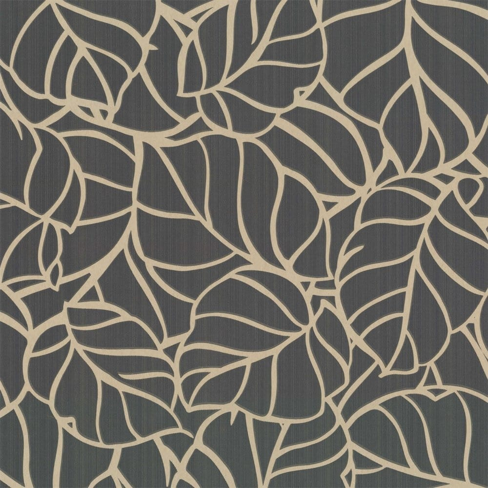 Buy graham and brown vine wallpaper charcoal gold for Graham and brown bathroom wallpaper