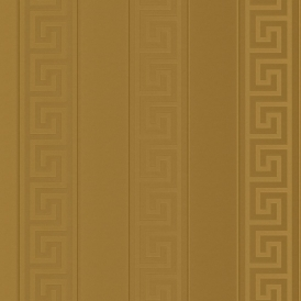 Greek Stripe Wallpaper Antique Gold