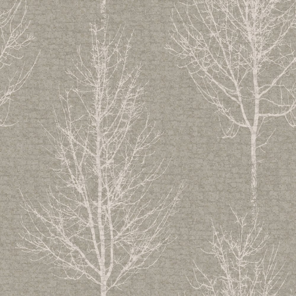 Designer Interiors Hadrian Tree Wallpaper Pewter 35460