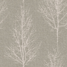 Hadrian Tree Wallpaper Pewter