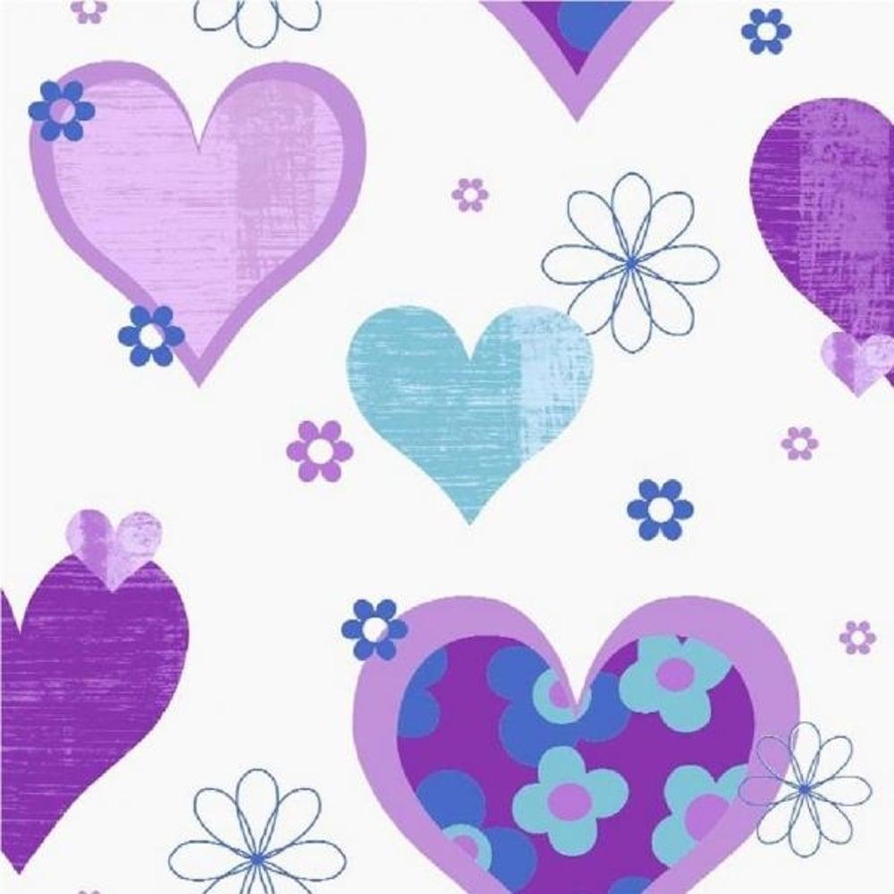 Happy Heart Wallpaper Purple (533702)