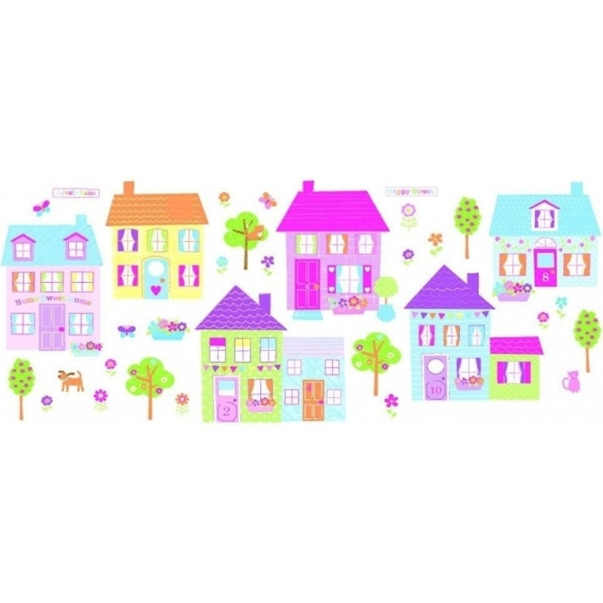 Fun4Walls Happy Street Wall Stickers Stikarounds (SA31275)