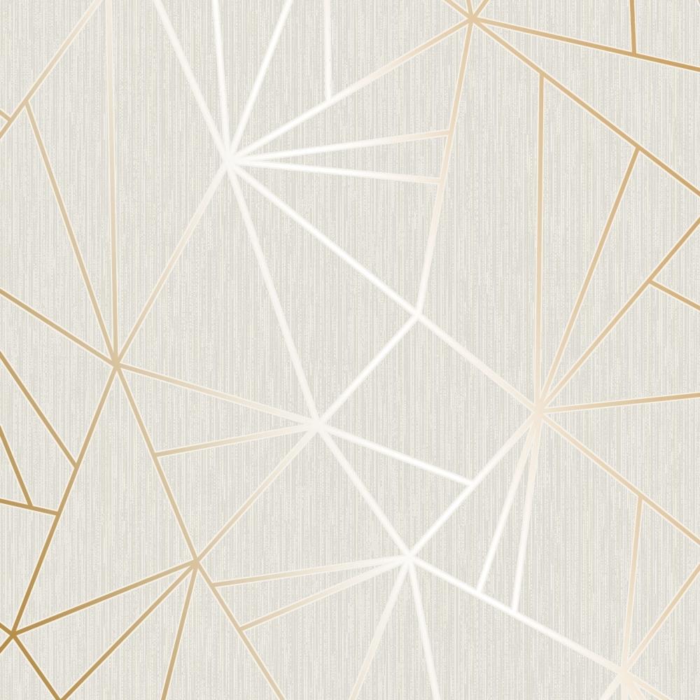 Henderson Interiors Camden Apex Glitter Wallpaper Gold