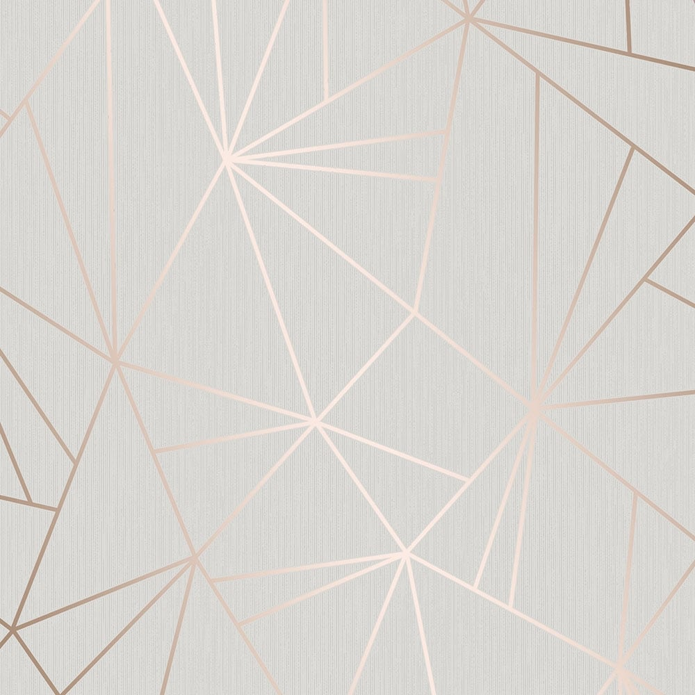 Grey and rose gold wallpaper