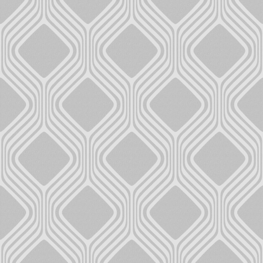 Camden Geometric Textured Glitter Wallpaper Soft Grey H980517