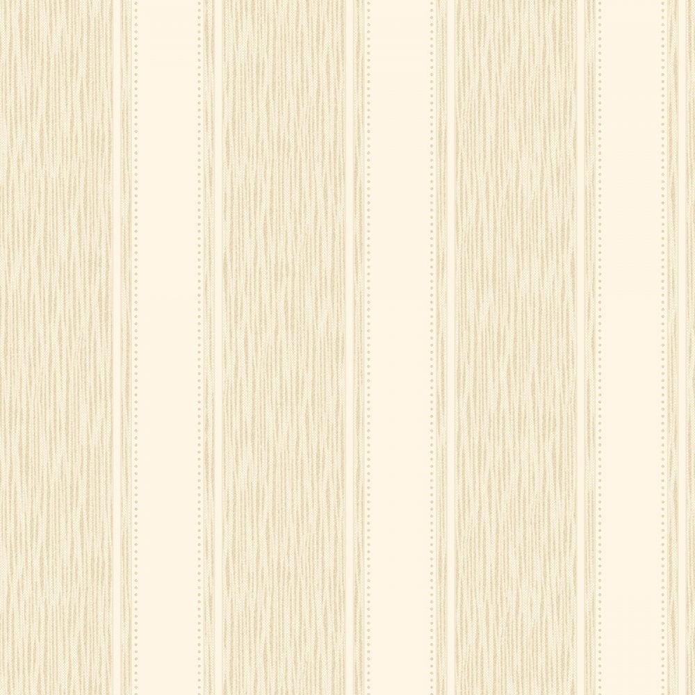 Chelsea Glitter Stripe Wallpaper Cream Gold H980509