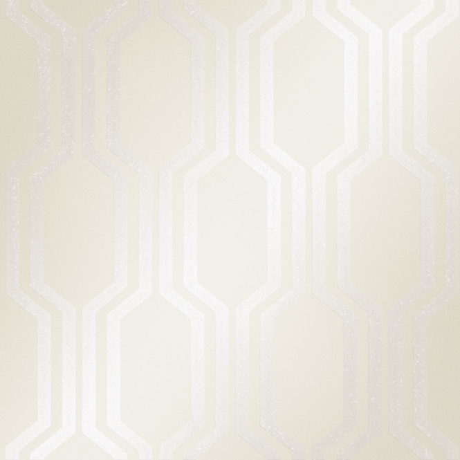 Henderson Interiors London Hex Wallpaper White