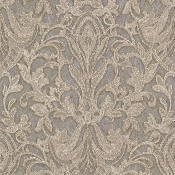 Henderson Interiors PrimaDonna Damask Wallpaper Beige, Grey, Gold (43719WW)