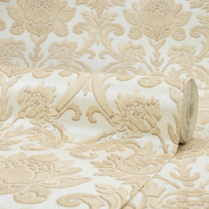 Henderson Interiors Sorrentino Textured Damask Wallpaper