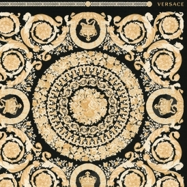Heritage Tile Wallpaper Black, Gold