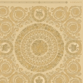 Heritage Tile Wallpaper Gold