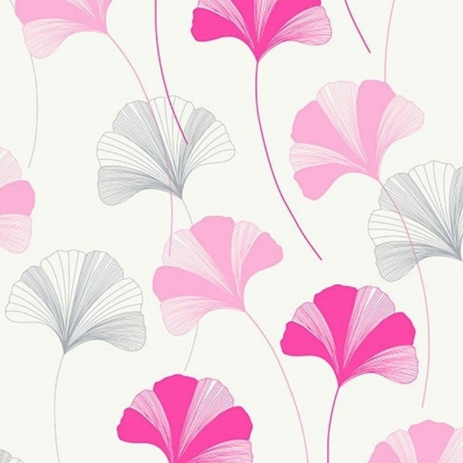 Coloroll Honesty Floral Wallpaper Candy Pink (M0807)