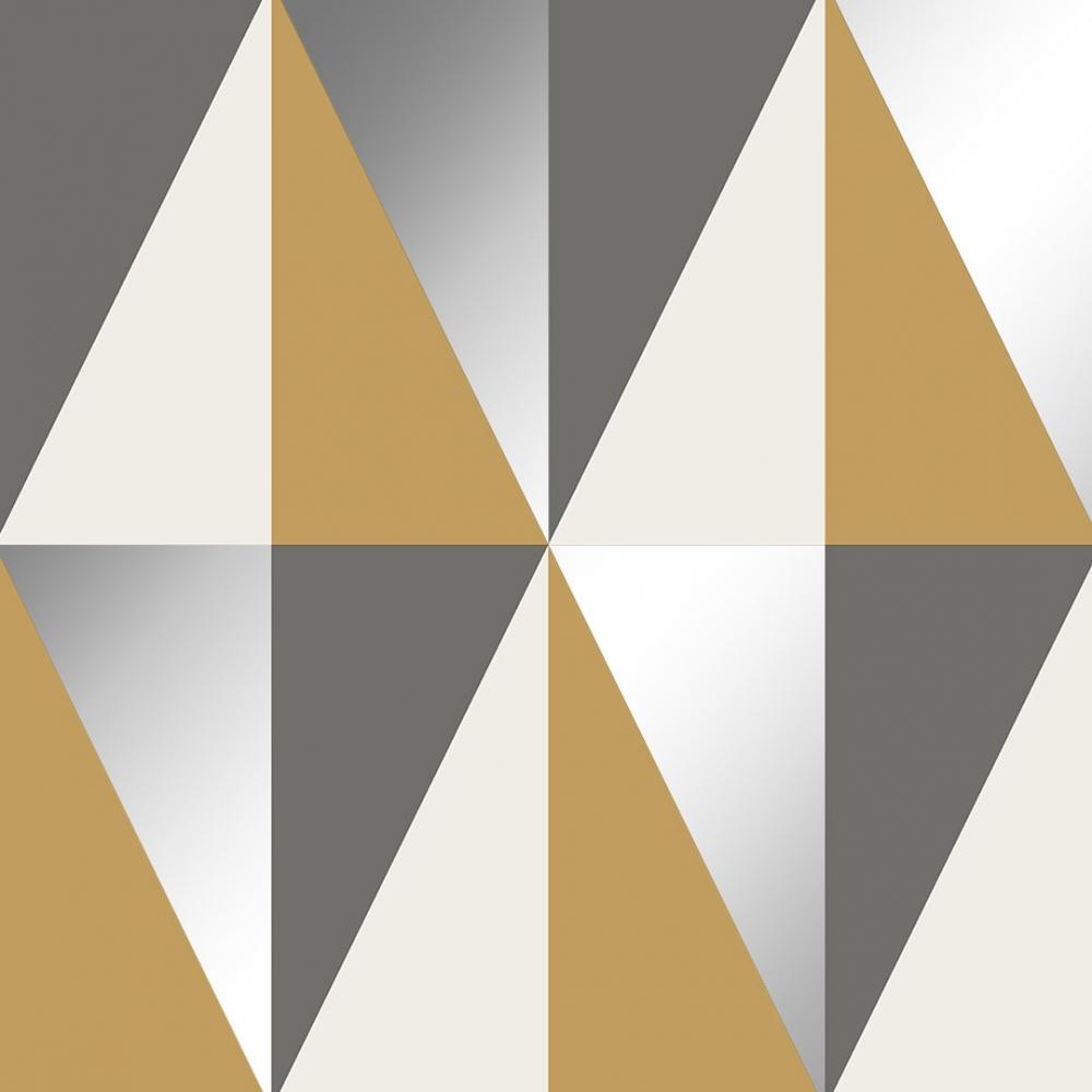 horden geometric triangle wallpaper grey silver mustard p7244 23666 image