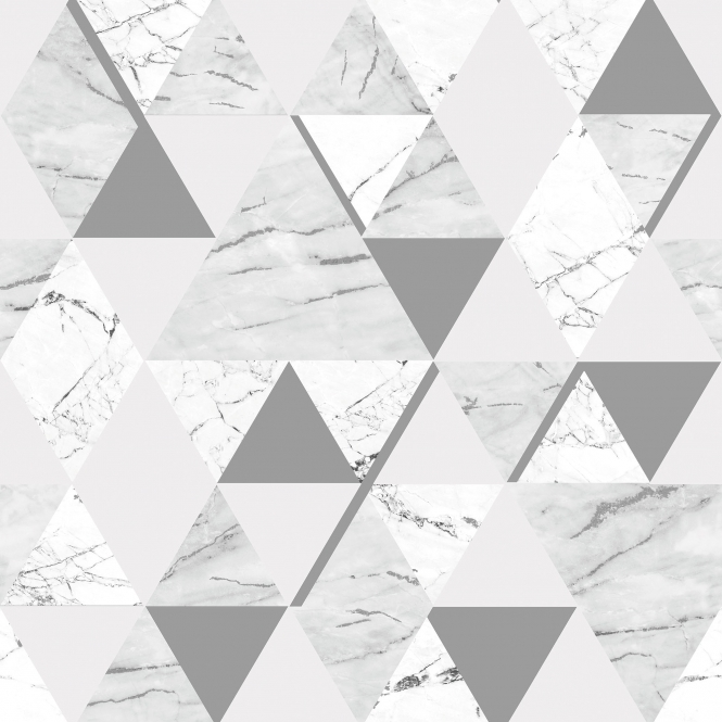 House of Alice Onyx Marble Metallic Wallpaper Soft Grey, Silver (H980569)