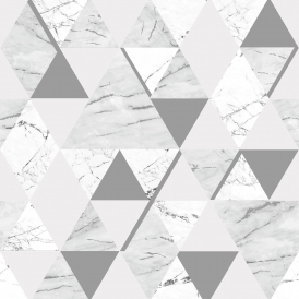 Onyx Marble Metallic Wallpaper Soft Grey, Silver (H980569)