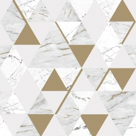 Onyx Marble Metallic Wallpaper White, Gold (H980566)