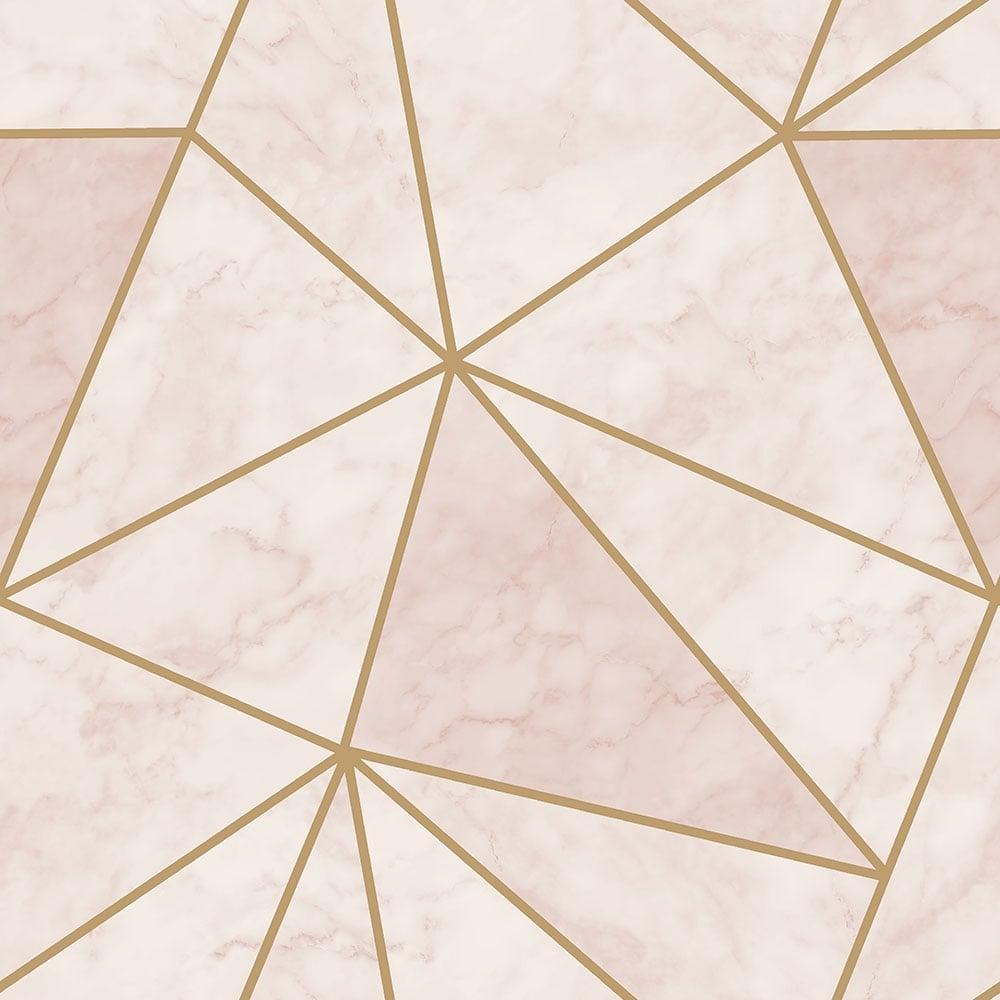 Sample Zara Shimmer Metallic Wallpaper Soft Pink Gold H980574