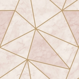 Zara Shimmer Metallic Wallpaper Soft Pink, Gold (H980574)