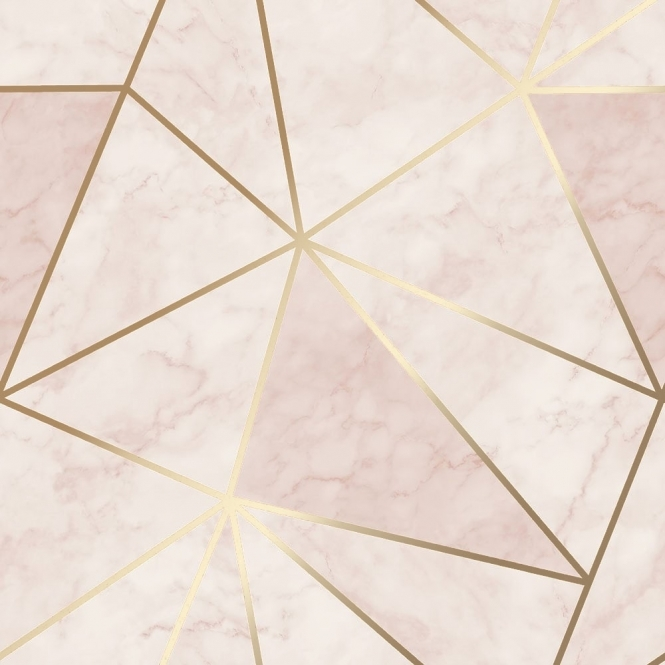 House of Alice Zara Shimmer Metallic Wallpaper Soft Pink Gold