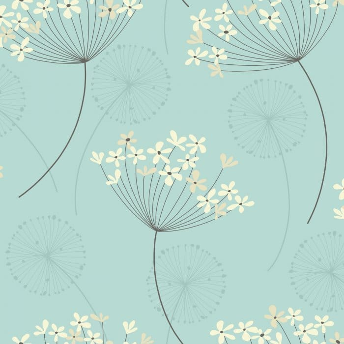 I Love Wallpaper Capri Wallpaper Teal Cream Patterned