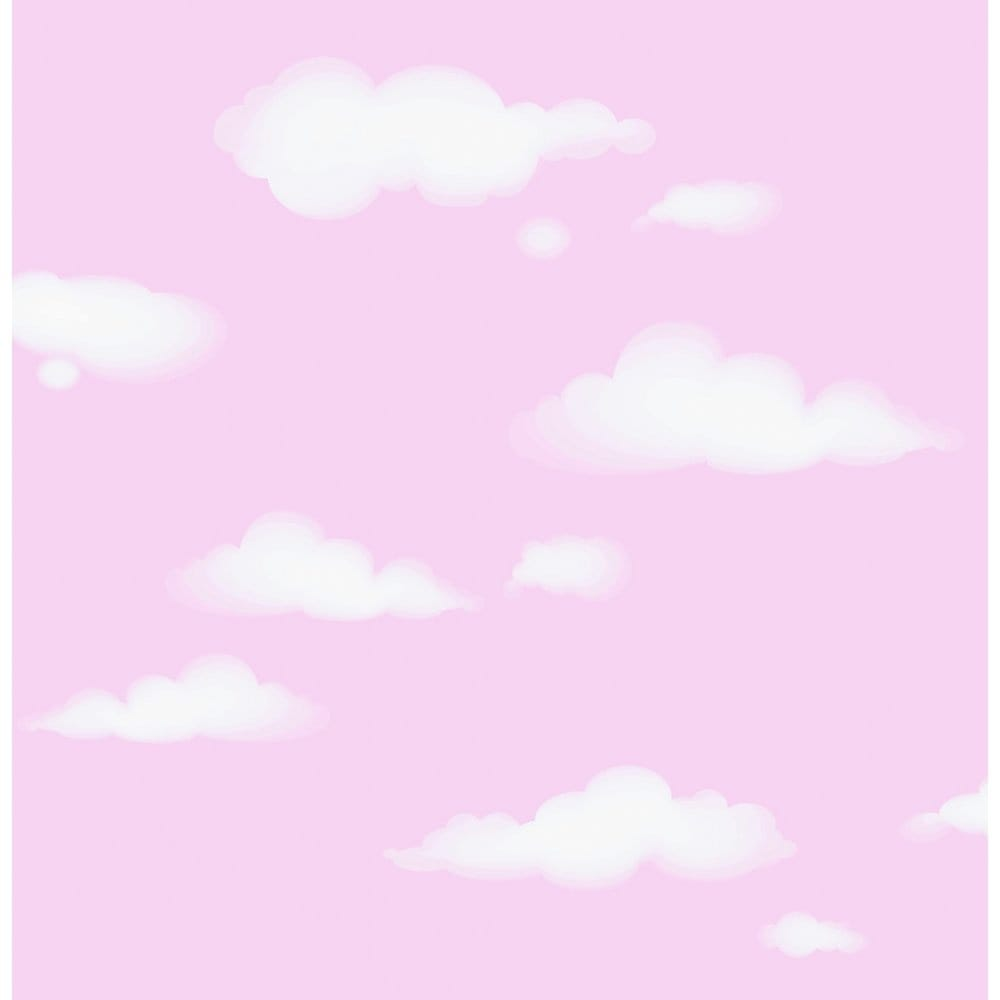 I Love Wallpaper Free Delivery code : I Love Wallpaper clouds childrens Wallpaper Pink / White (ILW980032) - Wallpaper from I Love ...