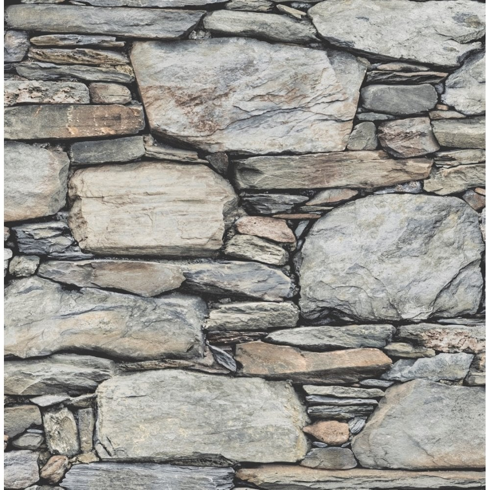 Stone Wall Paper stone effect wallpaper from i love wallpaper™