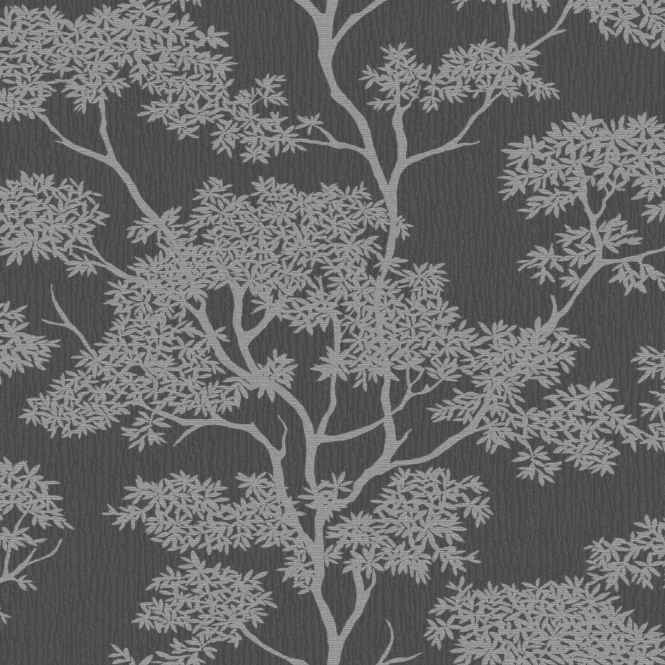 I Love Wallpaper™ Glamour Tree Wallpaper Charcoal / Silver (ILW980066)