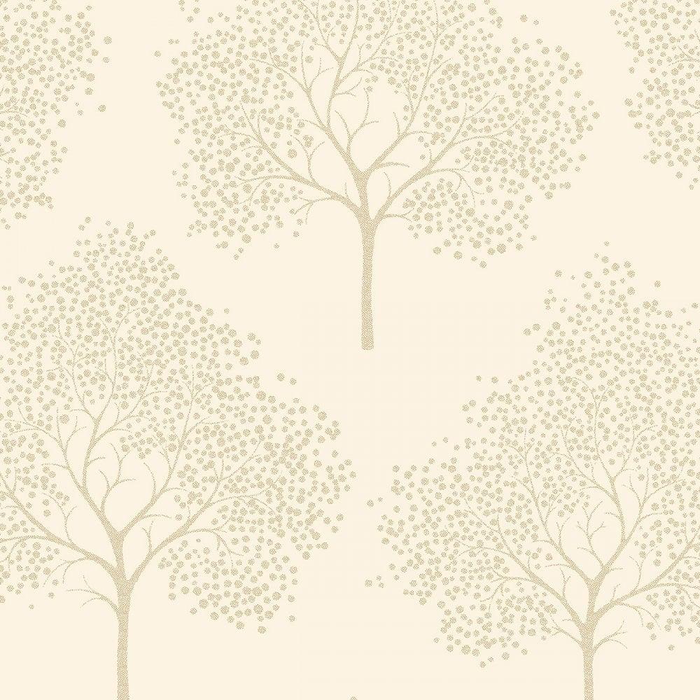 Glitter Tree Wallpaper Cream Gold ILW980030