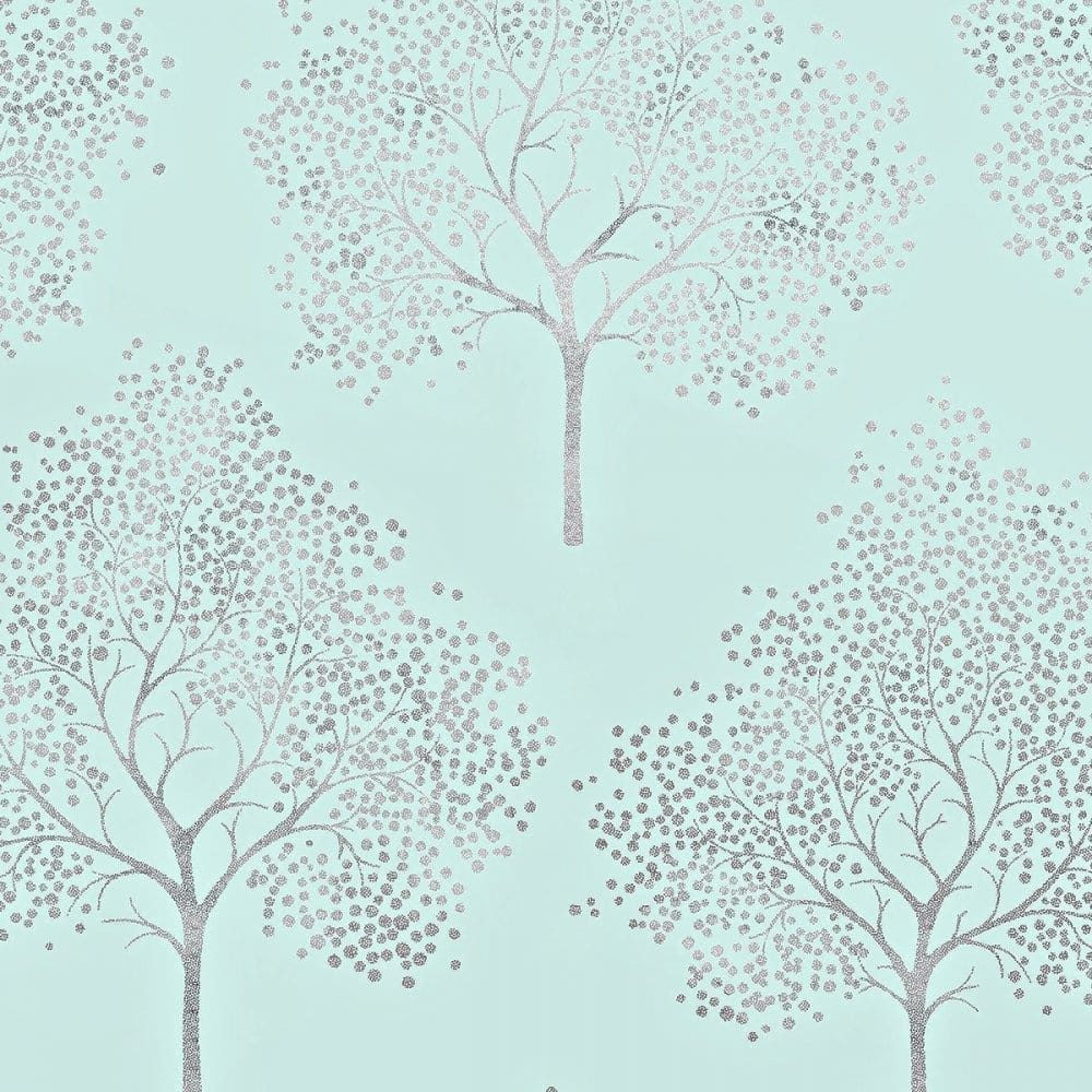 I love wallpaper glitter tree wallpaper teal silver