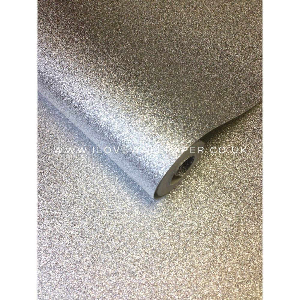 I Love Wallpaper Glitter Wallpaper Silver 154897 Wallpaper