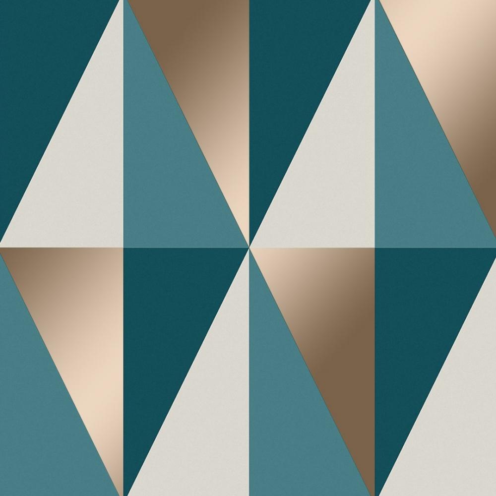 I Love Wallpaper Horden Geometric Triangle Wallpaper Teal