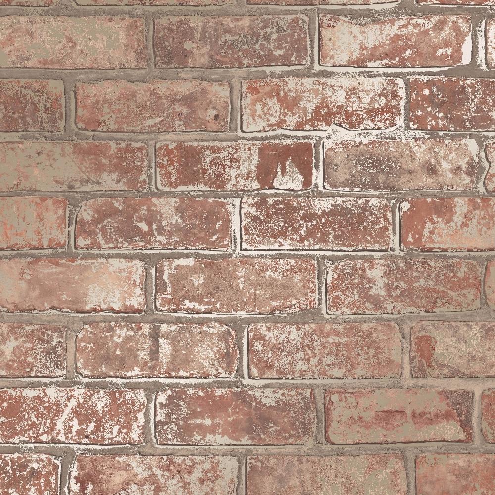 I Love Wallpaper Metallic Brick Wallpaper Natural