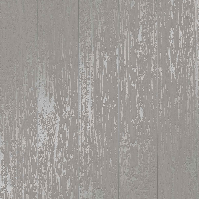 I Love Wallpaper Metallic Plank Wallpaper Grey (ILW980082)