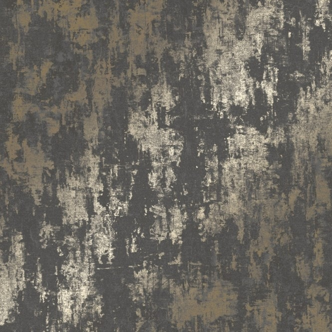 Milan Metallic Wallpaper Charcoal Gold