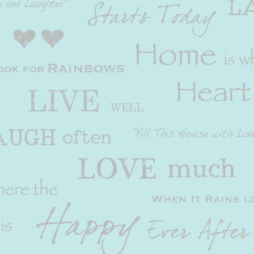 Love Wall Quotes I Love Wallpaper **sample** Shimmer Wall Quotes Teal Silver