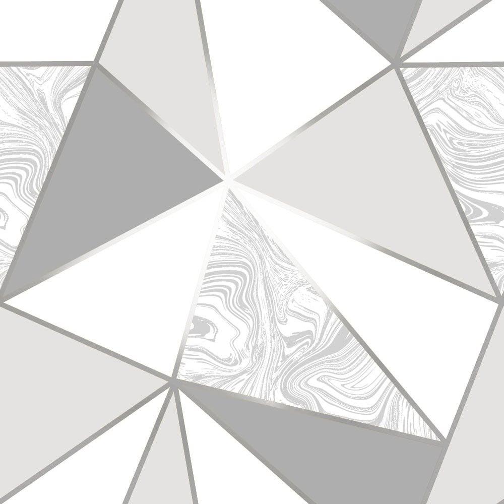 Sample Zara Marble Metallic Wallpaper Soft Grey Silver ILW980108