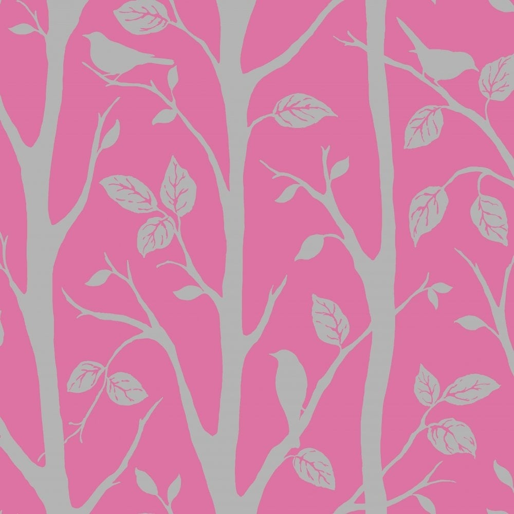 I Love Wallpaper Shimmer Harmony Wallpaper Pink Silver