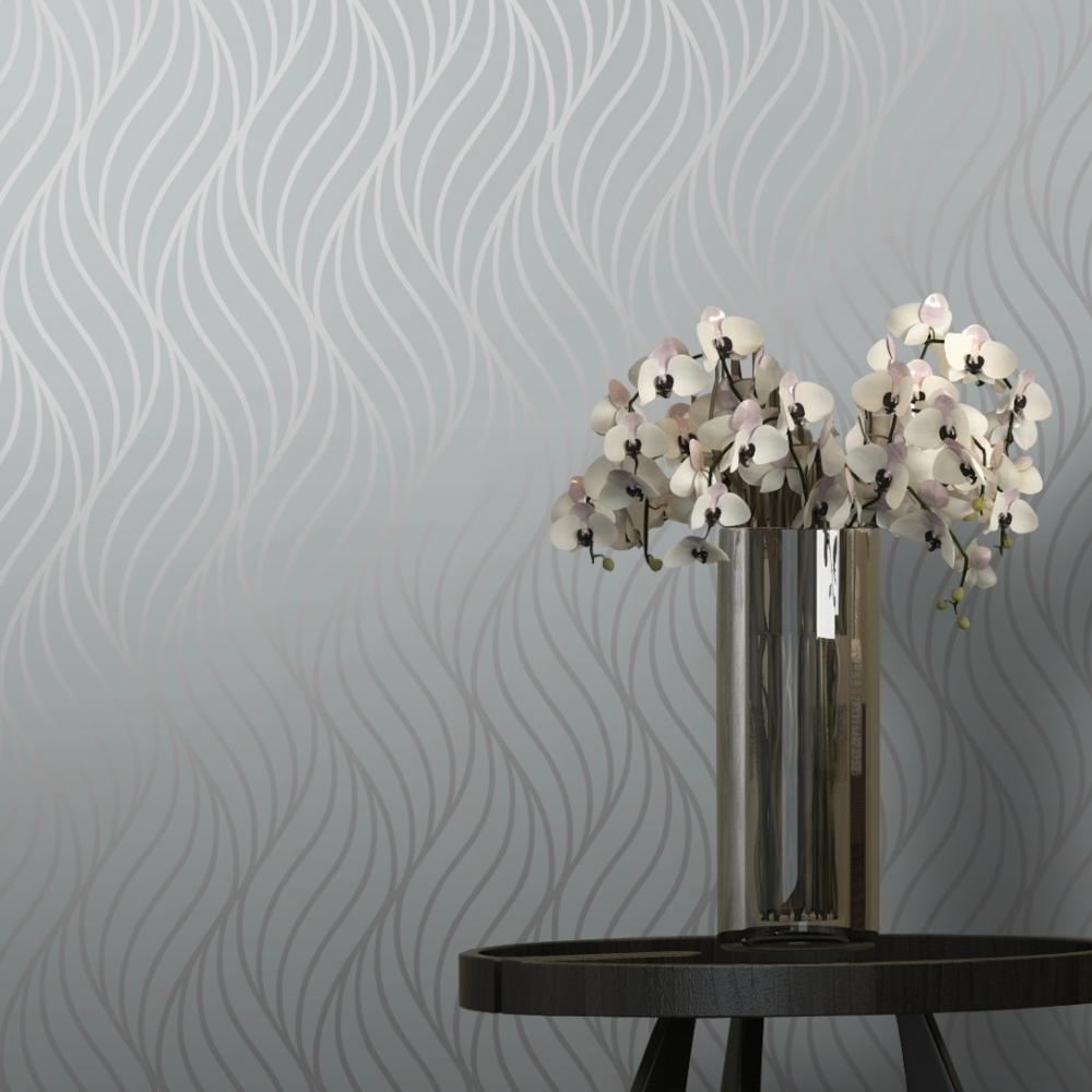 I love wallpaper glisten wave wallpaper silver ilw980087 shimmer indulge wallpaper grey silver 50032 mightylinksfo