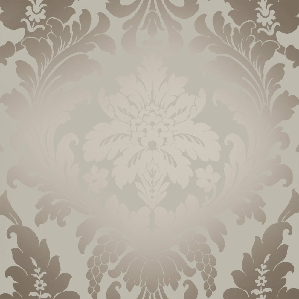 Shimmer Metallic Grande Damask Wallpaper Mushroom, Gold Lustre (ILW261546) - I Love Wallpaper Shimmer Metallic Grande Damask Wallpaper Mushroom